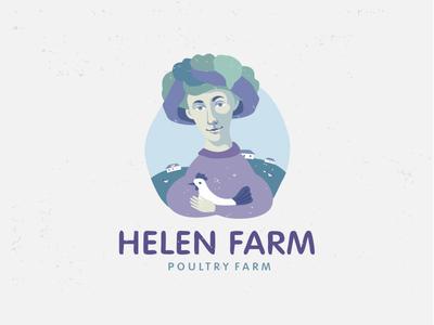 Helen Farm-poultry farm branding brand logotype logo poultry farm helen