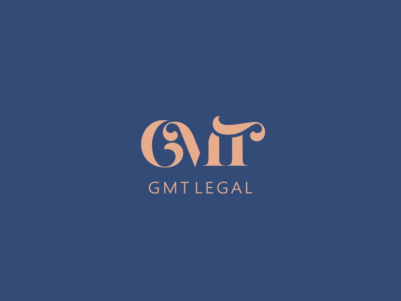 GMT Legal branding brand logotype logo firm law legal gmt