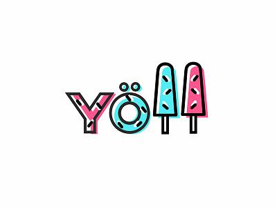 Yoll branding brand logotype logo toppings different wafers