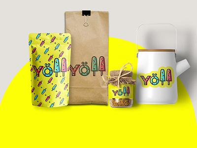 YOLL corporate styles waffles fillings different branding brand style logo yoll