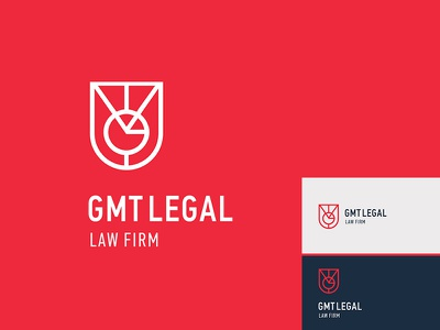 GMT Legal - law firm shield symbols monogram branding brand logotype logo firm law legal gmt