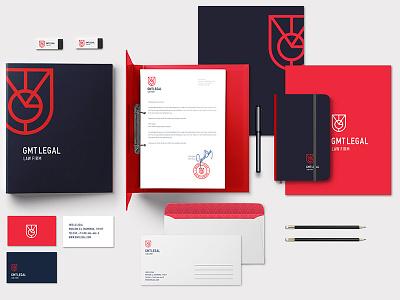 GMT Legal - law firm symbols shield monogram logotype logo legal law gmt