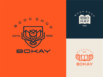 Bokay shop book vector icon illustration typography design company font brandidentity identity branding logotype logo brand