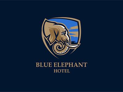 Blue Elephant hotel typography design company font brandidentity identity branding logotype logo brand