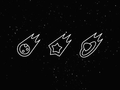 Bad Weather Icons monogram symbol weather icon pictogram alien invasion shooting star meteorite