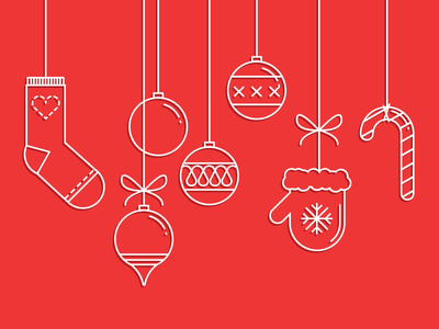 Merry Christmas Everyone sign pictogram icons christmas set icon stroke