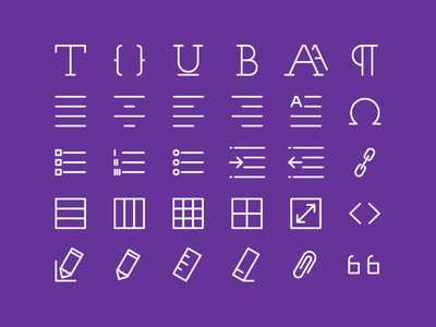 Text editing icons icon stroke set pictogram thin light ios8 pack monogram web text editing