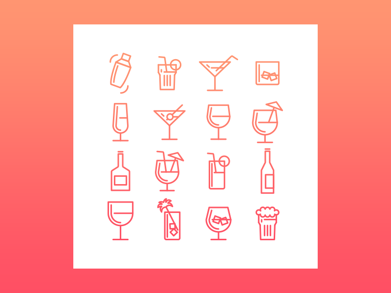 Birthday Drinks Icons vector freebie beer shaker drinks icons party cocktail
