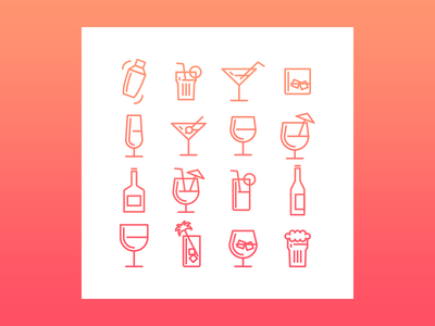 Birthday Drinks Icons