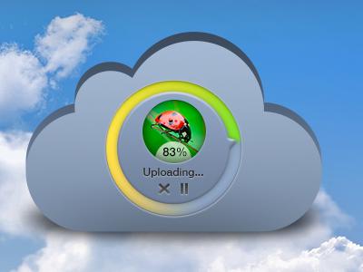 Upload In The Cloud (freebie) upload progress cloud file ui freebie psd photoshop