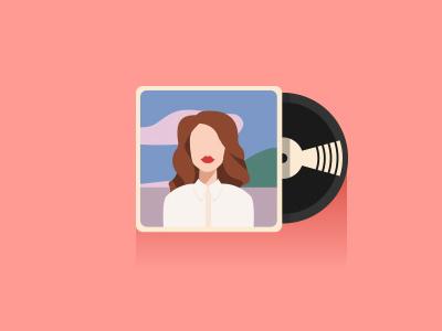 Lana del Rey vinyl lana del rey vector minimal icon album