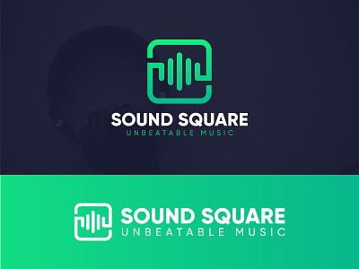 Sound Square Logo vector music logo sound logo logo design logo branding