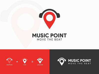 Music Point Logo music point logo point logo music logo logo logo design branding