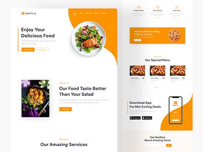 Food Website UI Design food webiste food website ui design website ui ui
