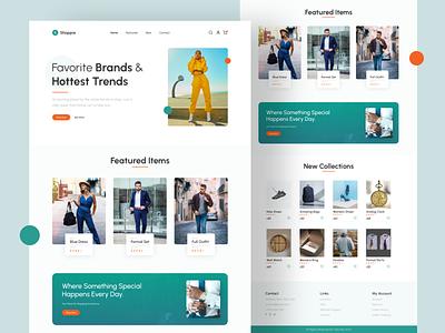Fashion Shop Website UI Design full website ui e-commerce website shopping website fashion website ui design website ui