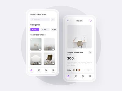 Furniture App UI e-commerce app mobile app ui app design store app ui mobile app furniture store store minimal furniture app furniture ui app ui ui ui design