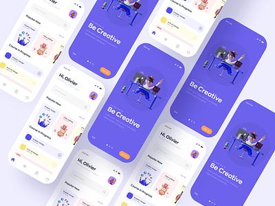 E-Learning App UI online course app app ui design app design course app learning app mobile app e learning app education app online learing app app ui ui design
