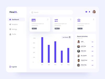 Finance Dashboard UI admin dashboard dashboard dashboard ui design clean ui finance finance dashboard dashboard design ui design