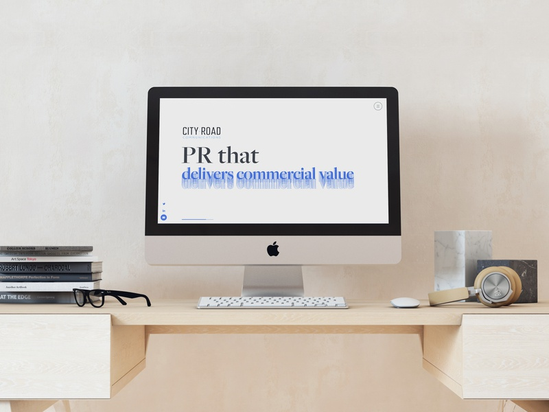 City Road Comms web design web typography ux design ui design design