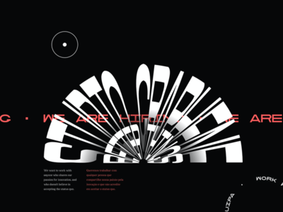 Talent Page web design typography ux ui ux design ui design design