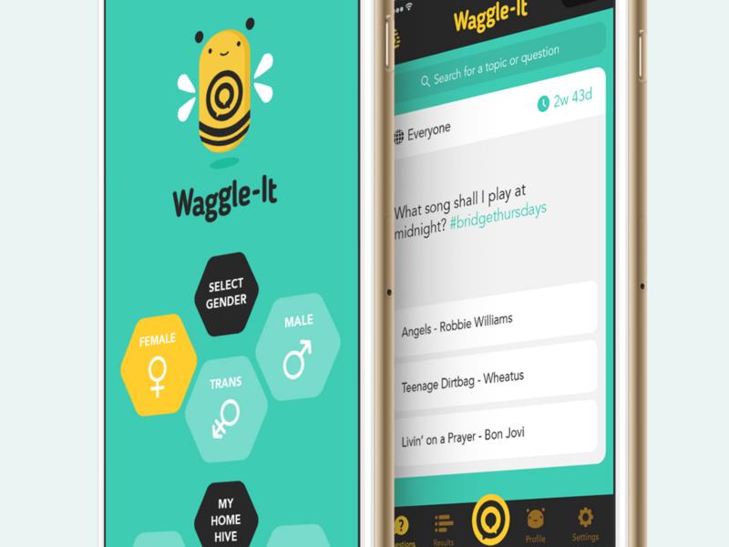 Waggle It app design design ux design ui design