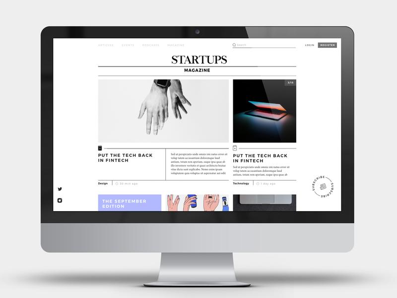 Startups Magazine ux ui ux design ui design design