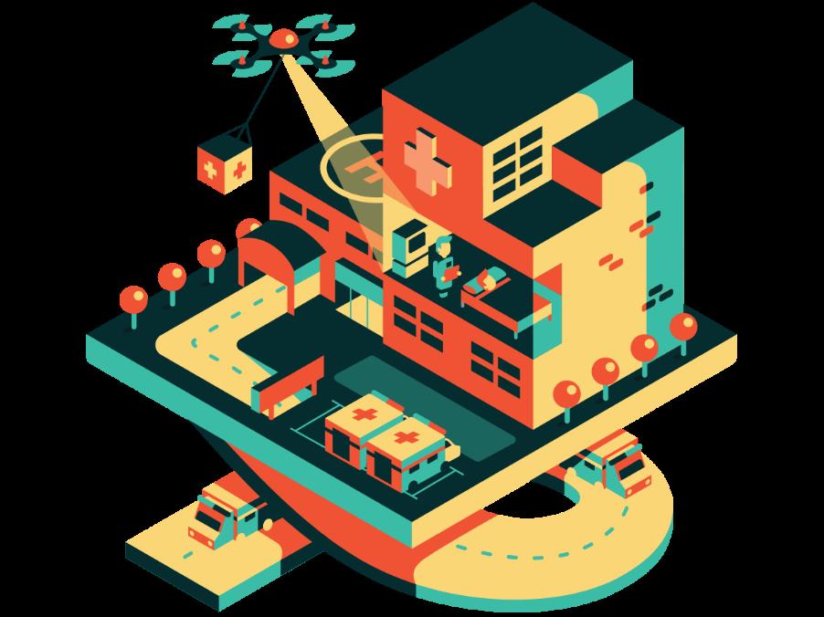 Nesta - Flying High illustration design