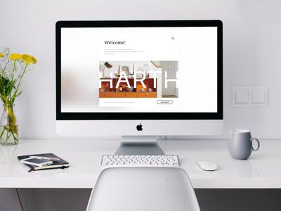 Harth typography website design website web branding ui ux design ui design design