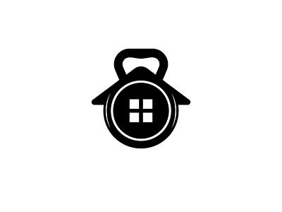 fitness house ui minimal art illustrator flat logo vector illustration design branding
