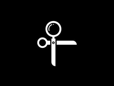 find a barber clean minimal art icon logo flat vector illustration design branding