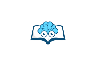 smart book app typography flat logo vector illustration design branding