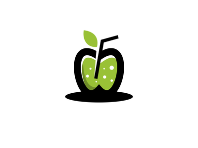 fresh apple juice ux ui app branding logo vector design illustration