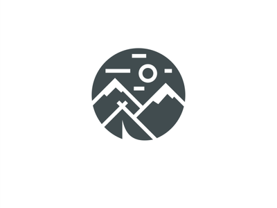 Camp clean graphic design art icon illustrator logo vector illustration design branding