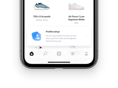 Snip Icons (Tab Bars) banner sneakers tab bars app ios home page icons set icons