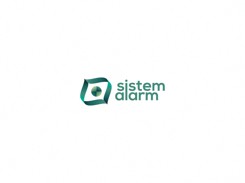 Sistem Alarm design flat branding logo