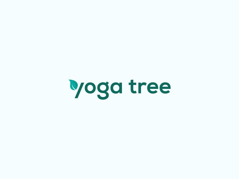 Yoga Tree minimal branding logo