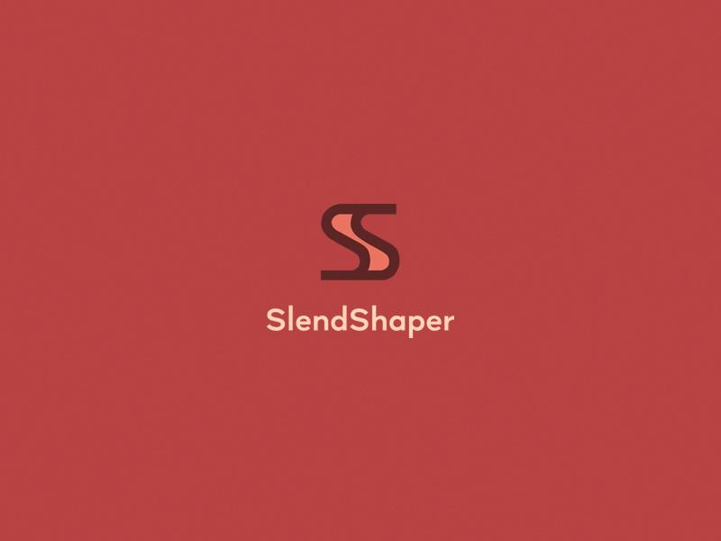 SlendShaper design logo flat minimal
