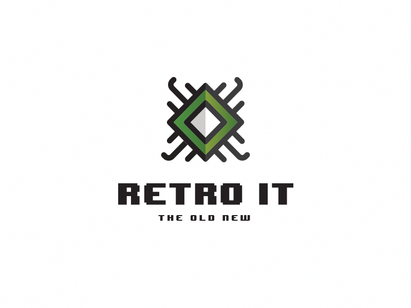 Retro IT branding design logo musem it retro
