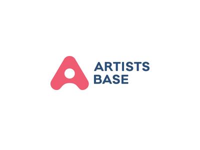 Artists Base artists base logo a sucheta olle person head circle arrow