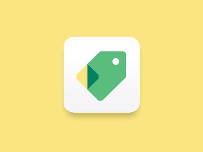 Discount app icon app branding logo fold paper ticket discount sales