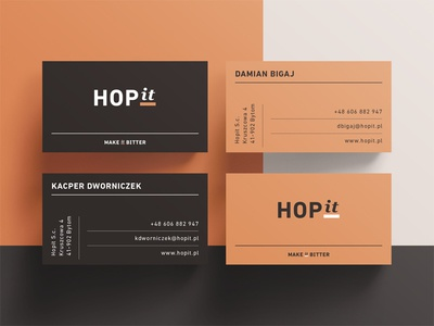 HOPit business cards brew craft table stationery hop copper cards business