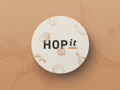 HOPit coaster patch brewery brew illustration dots coaster hop craft beer