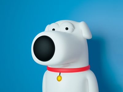 Character Brian Griffin Family Guy zbrush illustration design cinema4d character blender 3d