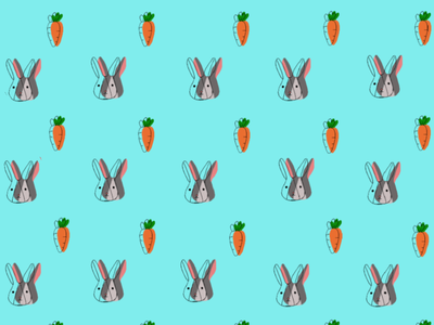 Easter Bunny typography illustration