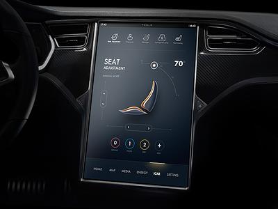 Tesla Concept exploration visual ux tesla map line exploration dashboard concept cluster climat car 3d