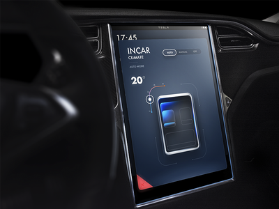 Tesla Concept Climate visual ux tesla map line exploration dashboard concept air climate car