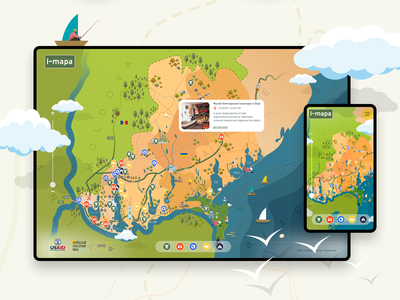 Map design for iMAPA website awwwards website design architecture illustrator map ux ui mobile design design website vector figma illustration