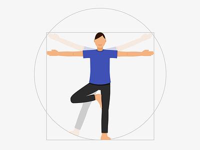Vitruvian Yoga geometry body yoga