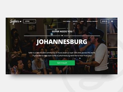 Sofar Startup City [WIP] cta contact header