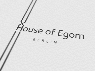 House of Egorn logotype business card identity brand print logotype logo
